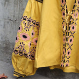 Saskatoon Boho Jacket in Mustard (wholesale): Alternate View #4