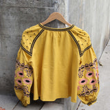 Saskatoon Boho Jacket in Mustard (wholesale): Alternate View #5