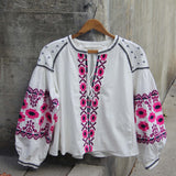 Saskatoon Boho Jacket in White (wholesale): Alternate View #1