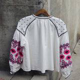 Saskatoon Boho Jacket in White (wholesale): Alternate View #5
