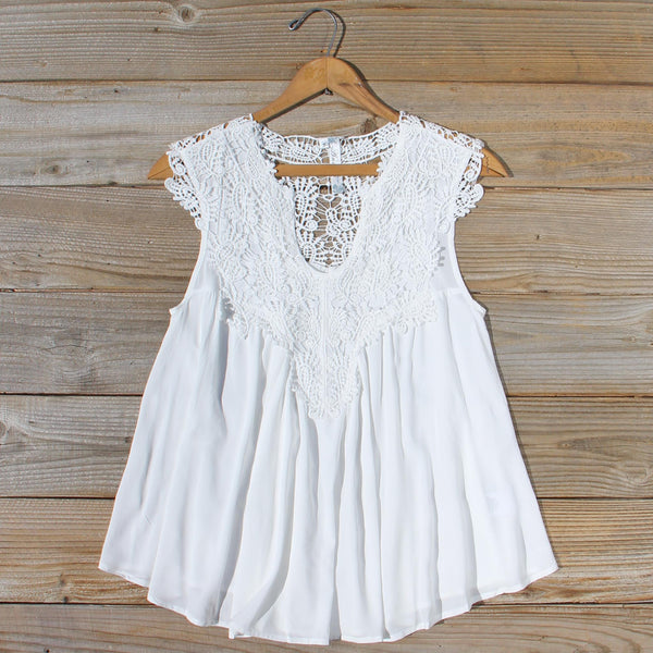 Shaded Peach Top in White: Featured Product Image