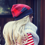 The Shadow Plaid Beanie: Alternate View #1