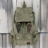 Shallow Creek Backpack in Sage: Alternate View #1