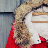 Sherpa Coat in Red: Alternate View #2