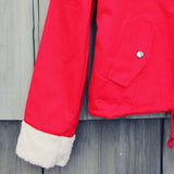 Sherpa Coat in Red: Alternate View #3