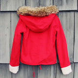 Sherpa Coat in Red: Alternate View #4