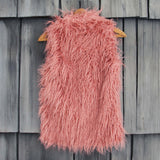 Siberian Rose Faux Fur Vest: Alternate View #4