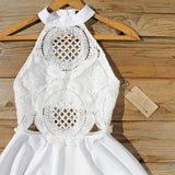 Siena Lace Dress in White: Alternate View #2