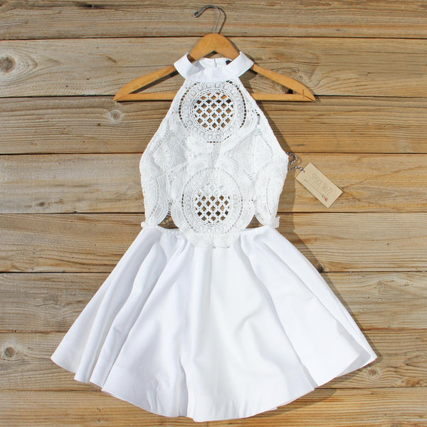 Siena Lace Dress in White: Featured Product Image