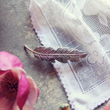 Silver Feather Hairpiece: Alternate View #1