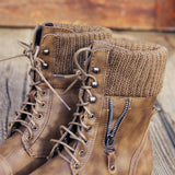 Ski Hill Sweater Boots in Ash: Alternate View #2