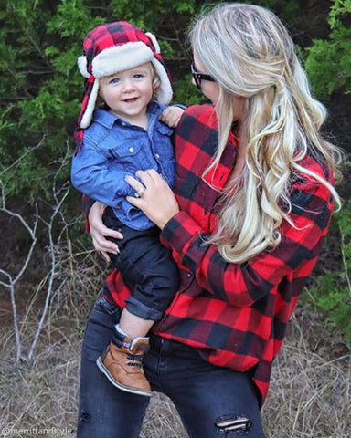 Ski Lodge Plaid Flannel in Red
