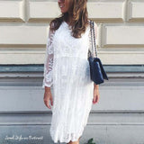 Aster Sky Lace Dress (wholesale): Alternate View #1