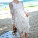 Aster Sky Lace Dress: Alternate View #2