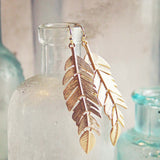 Sky Feather Earrings: Alternate View #1
