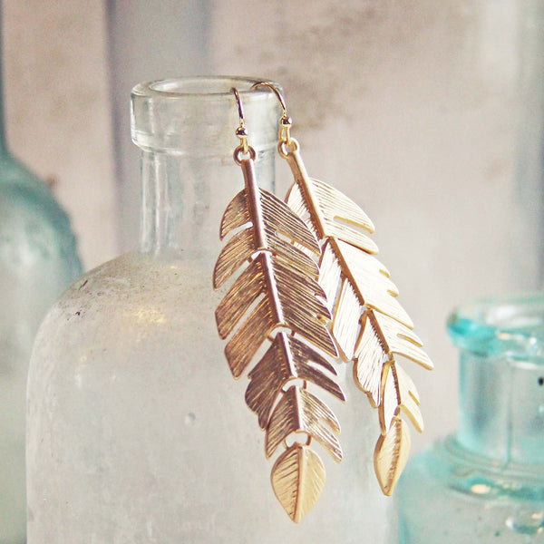 Sky Feather Earrings: Featured Product Image