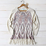 Sky Fringe Sweater: Alternate View #1