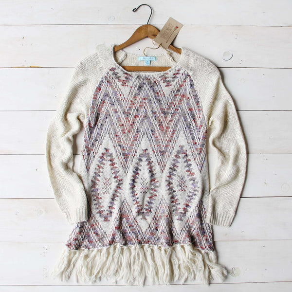 Sky Fringe Sweater: Featured Product Image
