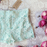 Sky Lace Shorts: Alternate View #2