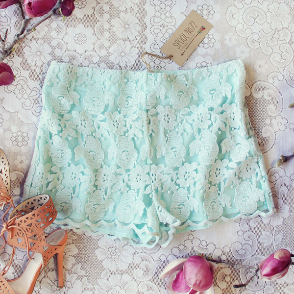 Sky Lace Shorts: Featured Product Image