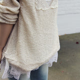 Sky Oak Sweater in Cream: Alternate View #3