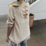 Sky Oak Sweater in Cream: Alternate View #4