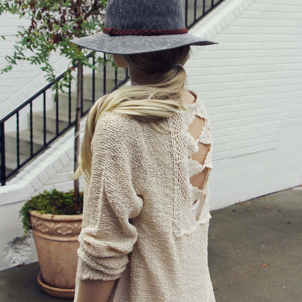 Sky Oak Sweater in Cream: Featured Product Image