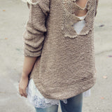 Sky Oak Sweater in Taupe: Alternate View #1