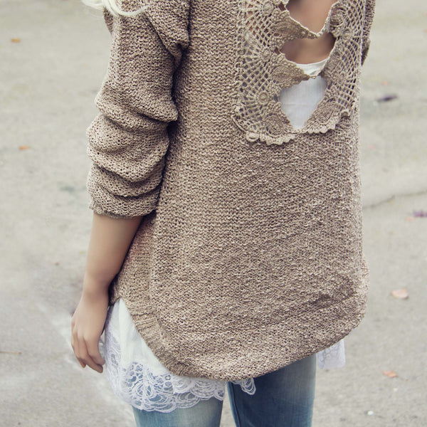 Sky Oak Sweater in Taupe: Featured Product Image