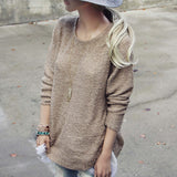 Sky Oak Sweater in Taupe: Alternate View #3