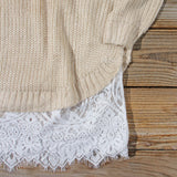Skyline Lace Sweater Dress in Sand: Alternate View #3