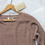 Skyline Lace Sweater in Timber: Alternate View #2