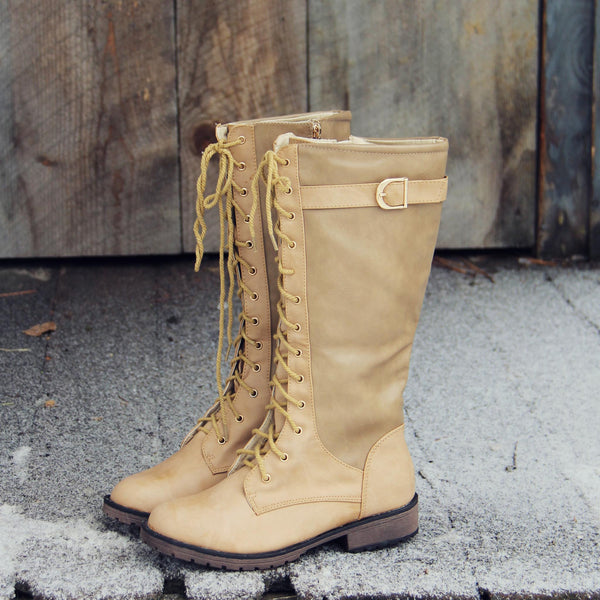 Sleepy Snow Lace-Up Boots: Featured Product Image