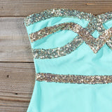 Sleigh Bells Party Dress in Mint: Alternate View #2