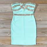 Sleigh Bells Party Dress in Mint: Alternate View #1