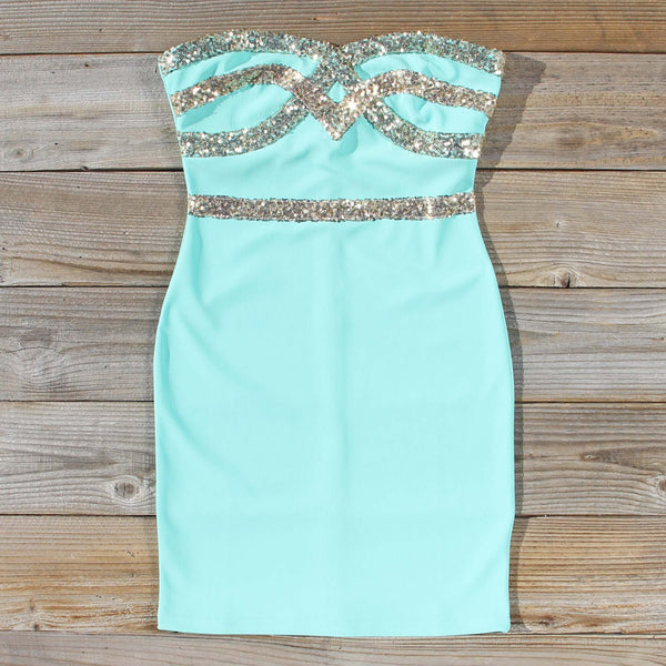 Sleigh Bells Party Dress in Mint: Featured Product Image