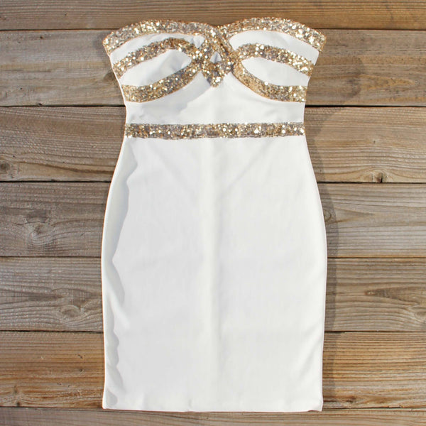 Sleigh Bells Party Dress in Snow: Featured Product Image