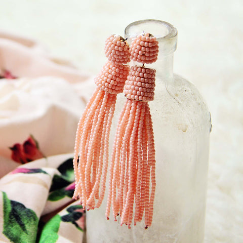 Sloane Tassel Earrings in Pink