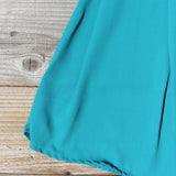 Smoke Blossom Dress in Teal: Alternate View #3