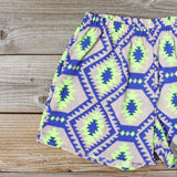Smoke & Mirrors Shorts in Lime: Alternate View #2