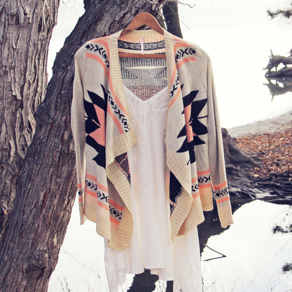 Smoke River Sweater in Peach: Featured Product Image