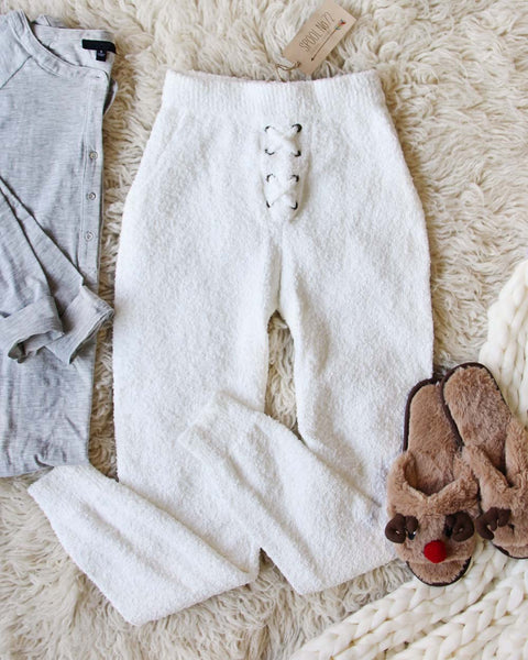 Snow Bunny Sweater Joggers: Featured Product Image