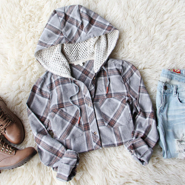 Snowy Falls Plaid Top: Featured Product Image