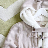 The Snowy Toggle Sweater in Cream: Alternate View #3