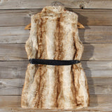 Snow Spell Faux Fur Vest: Alternate View #5