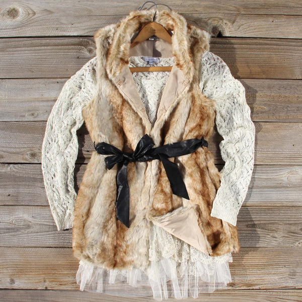 Snow Spell Faux Fur Vest: Featured Product Image