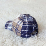 Snowcap Plaid Hat in Navy: Alternate View #2