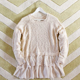 Snowflake Boyfriend Sweater in Cream: Alternate View #2