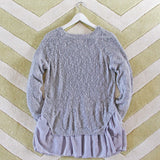 Snowflake Boyfriend Sweater in Gray: Alternate View #4