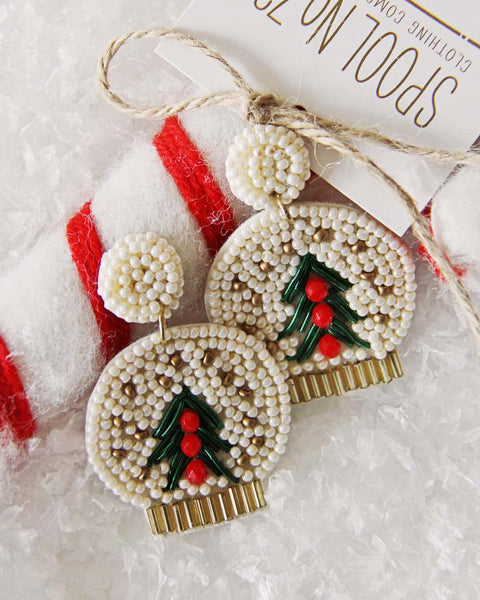 Snow Globe Earrings: Featured Product Image